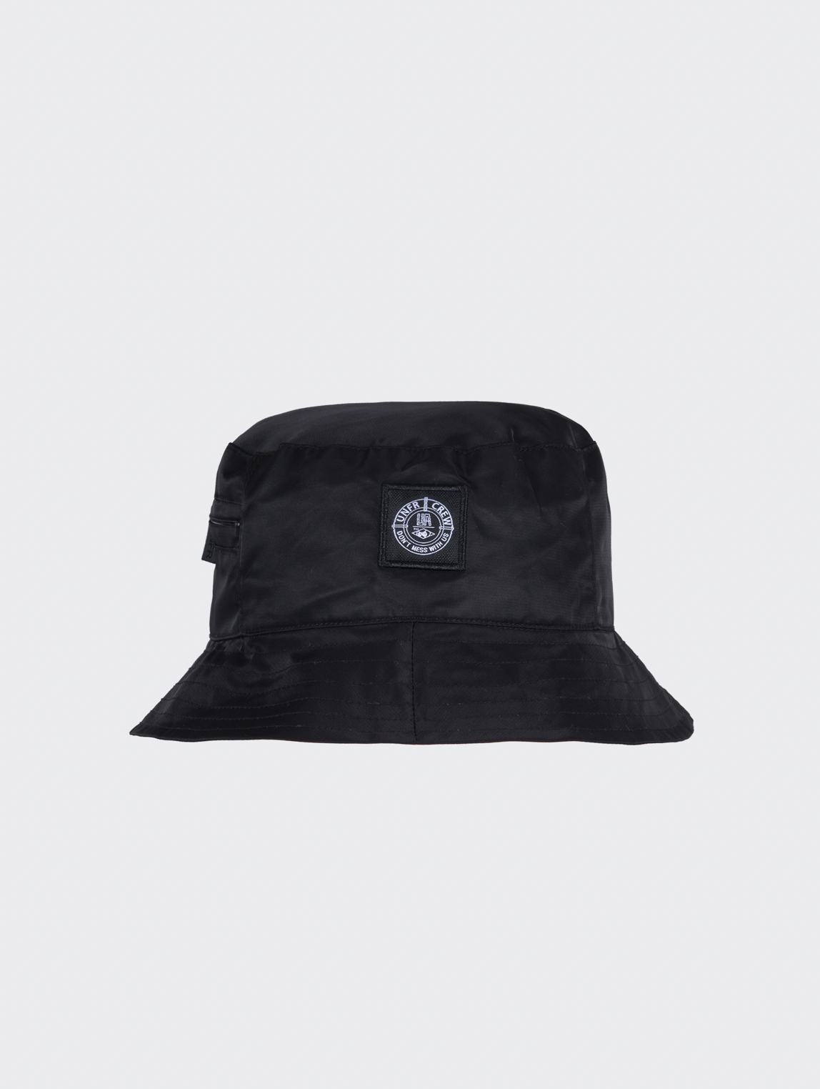 DMWU Patch Bucket Hat Black