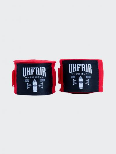 Unfair Boxing Hand Wraps Red